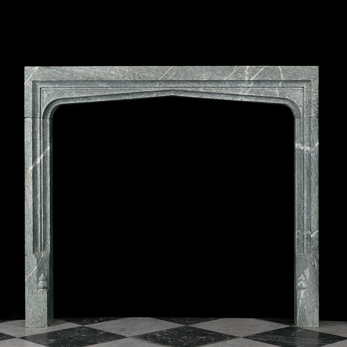 11052: A set of Tudor style Green Campan Marble fireplace ingrounds.English late 19th century.   Link to: Antique Renaissance, Gothic Tudor Fireplace mantels and Chimneypieces: 1260 - 1600