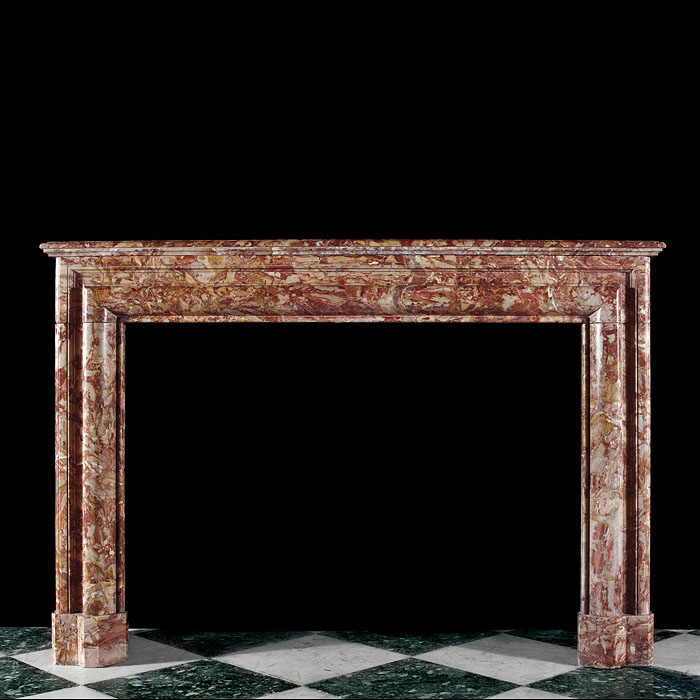 Italian Baroque Sarrancolin Bolection Mantel