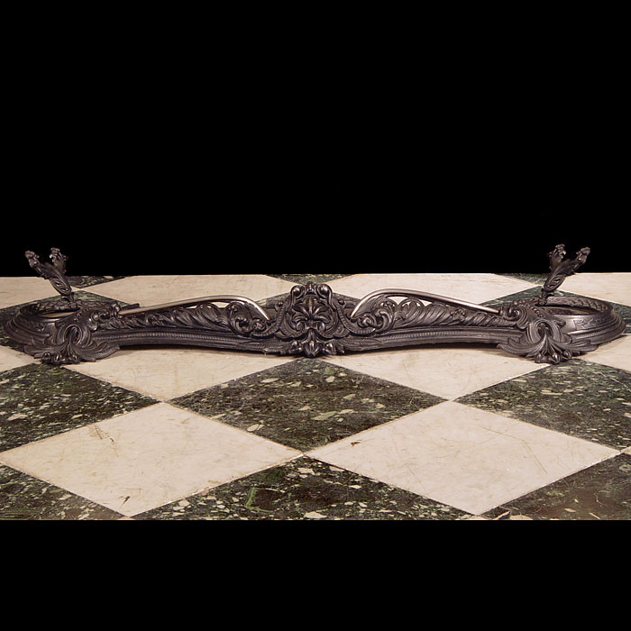 A Rococo Style Serpentine Fireplace Fender