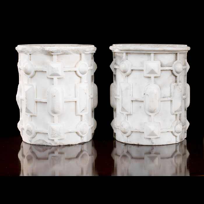 A pair of Statuary marble Elements