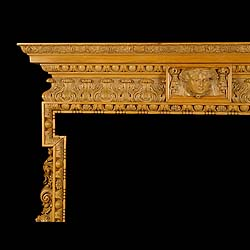 Antique Georgian English Rococo Chimneypiece in Carved Pine