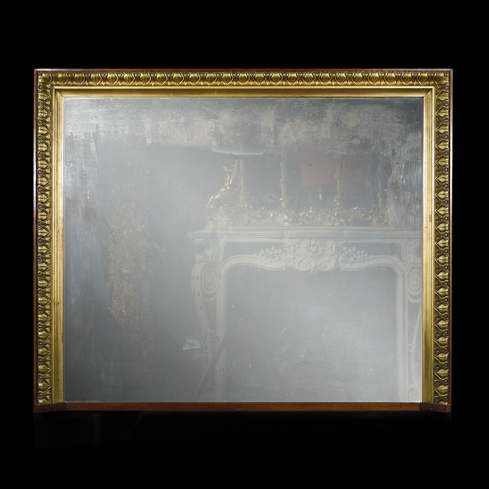 A giltwood Georgian style overmantel mirror