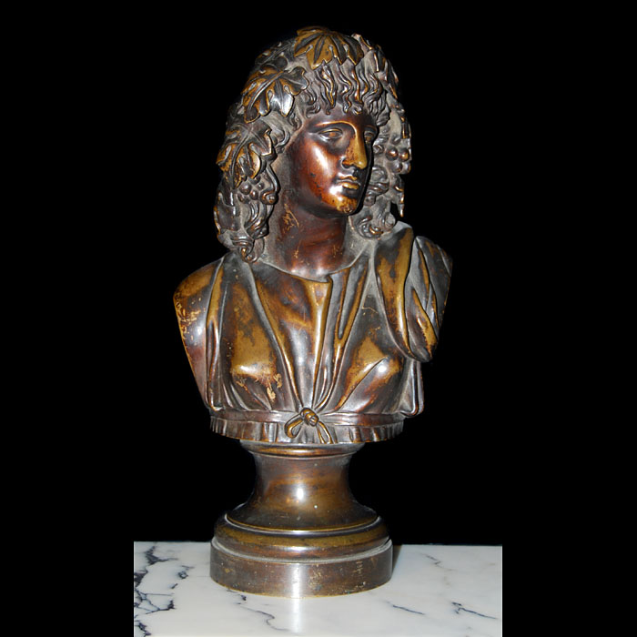 .A Victorian bronze bust of Dionysus