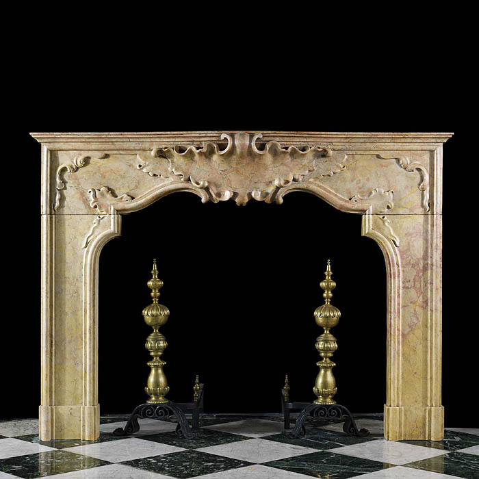 Italian Baroque Replica Marble Fireplace
