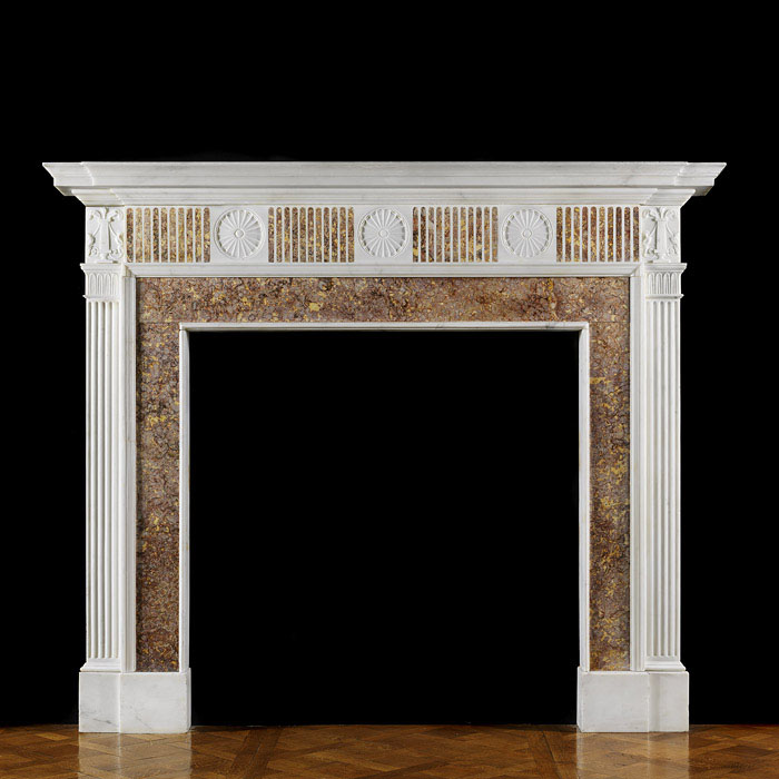 A Statuary Marble Georgian Chimneypiece
