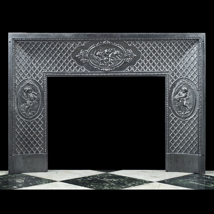 An Antique cast iron Louis XVI style Fireplace Insert