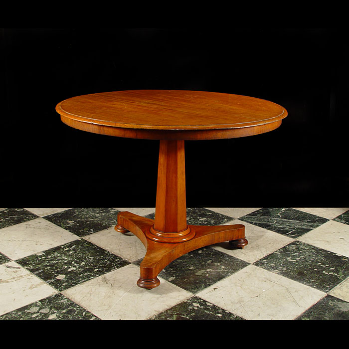 Antique Circular Oak Victorian Tilt Top Table