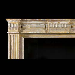 Antique Louis XVI Onyx Marble French Chimneypiece