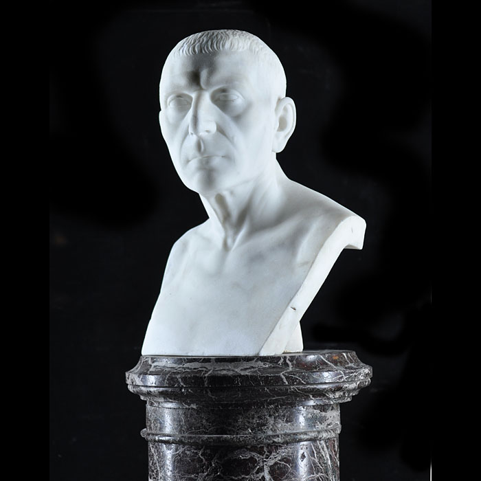 An antique statuary Roman Senator marble bust