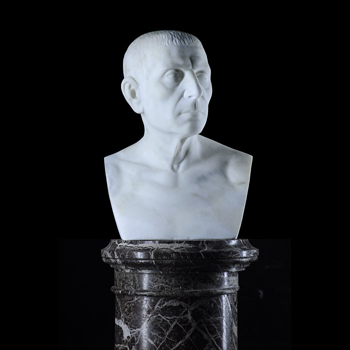 An antique marble bust