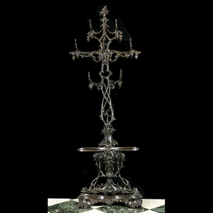 A tall Coalbrookdale cast iron ornate hallstand