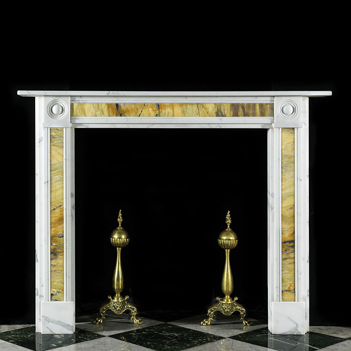 Antique compact Regency style marble Fireplace Surround