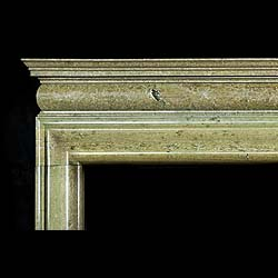 A 1930s Bolection chimneypiece in pale green Irish Connemara Marble