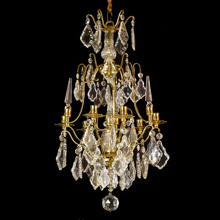 A 20th Century Five Light Crystal Chandelier