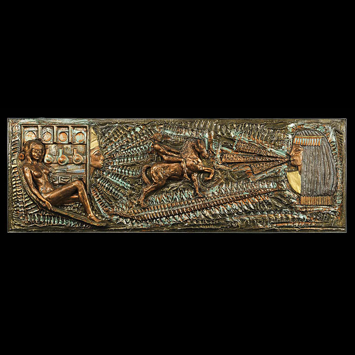 A 20th Century Egyptian Style Sculpted Plaque