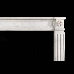 A French Regency statuary marble antique fireplace surround