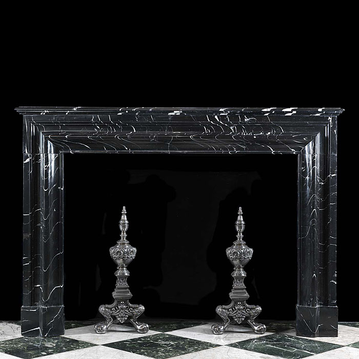 Antique Elegant Marble Bolection fireplace in the manner of Louis XVI