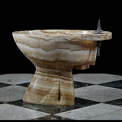 art deco bathroom onyx bidet