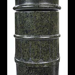 19th century green marble column