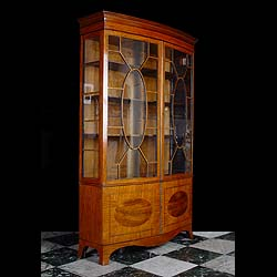 Antique George III style Mahogany Bowfront Display Cabinet