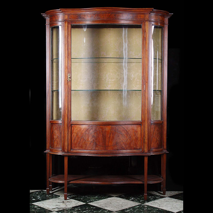 Georgian style mahogany display cabinet
