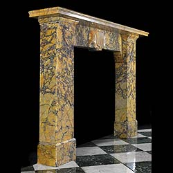 An Antique Covent Sienna Giallo Marble William IV Chimneypiece
