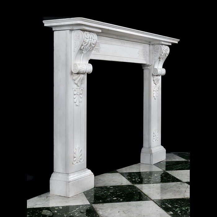 A Greek Revival Regency Marble Fireplace