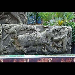 Antique Set of Five Stone Metope Relics depicting Hunting Scenes