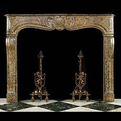 Antique French Rococo Marble Fireplace Mantel