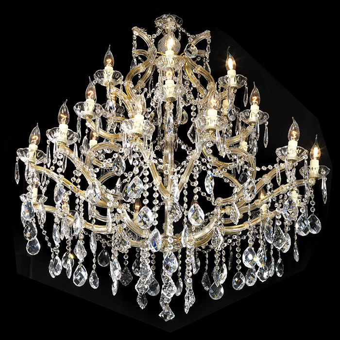 A 20th century cut glass Louis XVI style chandelier