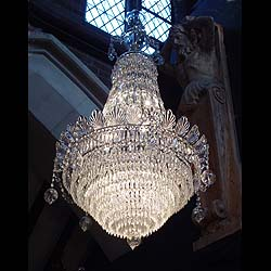 Antique Victorian Chandelier in the Regency manner in Crystal Glass