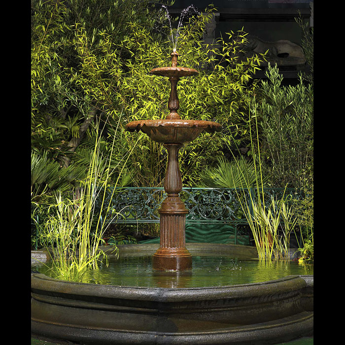 Cast Iron Baroque style Garden Fountain