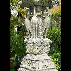 Antique White Marble Fountain in the Piranesi manner