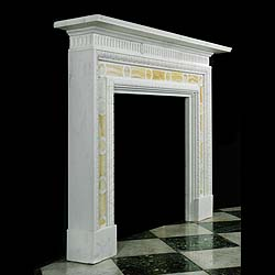 Antique Onyx Marble English Georgian Period Fireplace Mantel