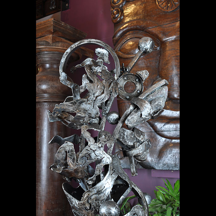 .A 20th century wrought iron sculpture by A D Tobias Williams