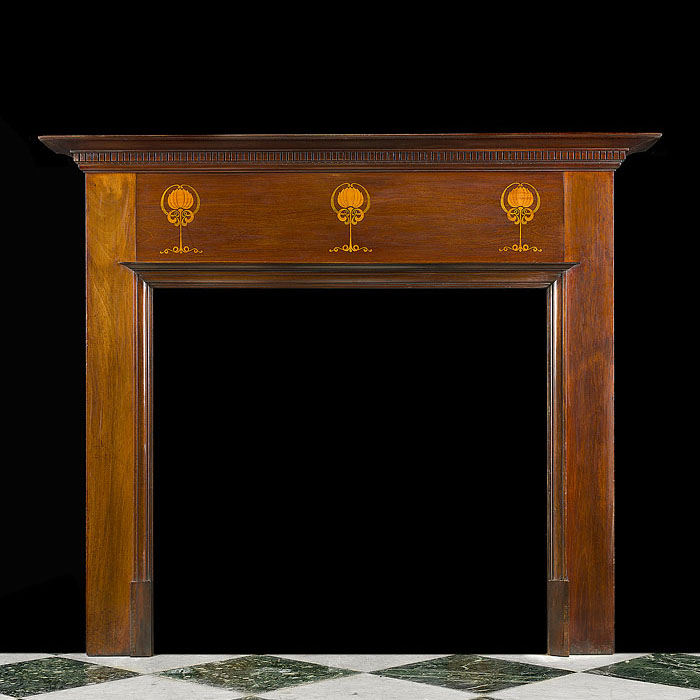 An Edwardian Inlaid Marquetry Fire Surround