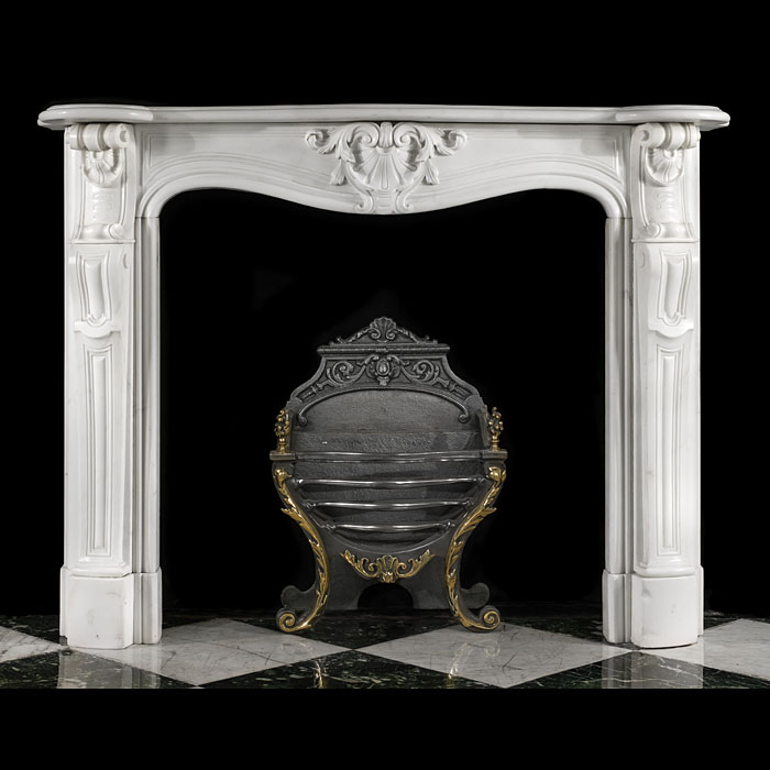 An Antique French Rococo Marble fireplace surround