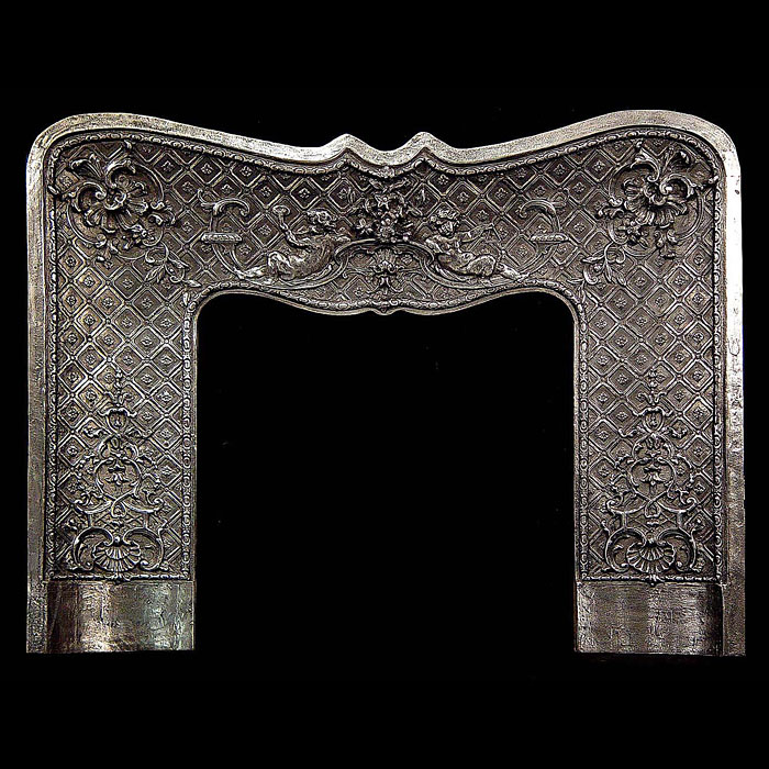 French Rococo antique cast iron Fireplace insert
