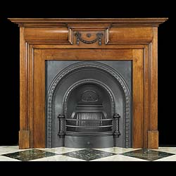 Carved Oak small Victorian fireplace in the George II style