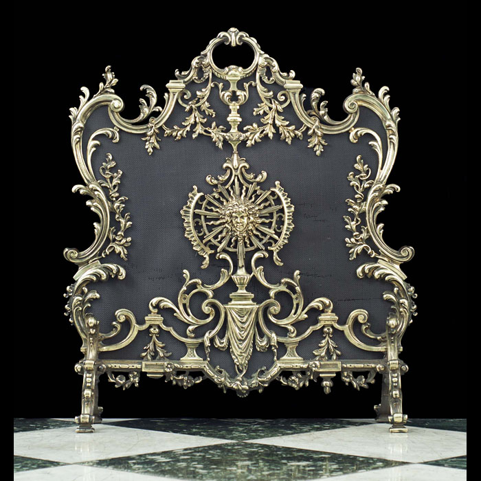 A very fine Baroque/Rococo style Antique Firescreen