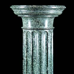 Antique Victorian Marble Plinth Column
