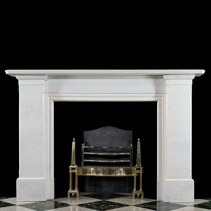 Antique Large Bianco Pi marble Regency manner Chimneypiece