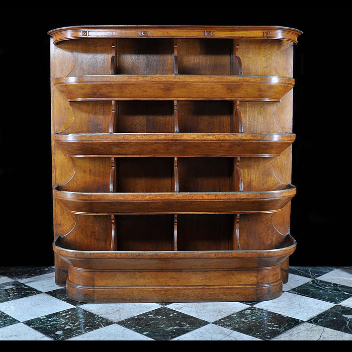 An oak 1930s Haberdashers Display Unit