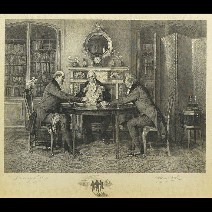 A set of three large engraved Victorian Prints