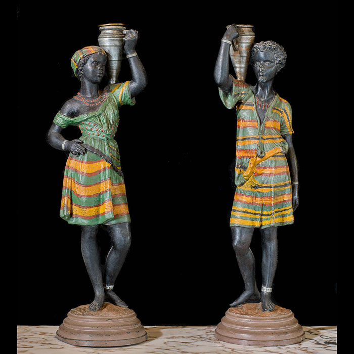 A pair of small Nubian water carriers