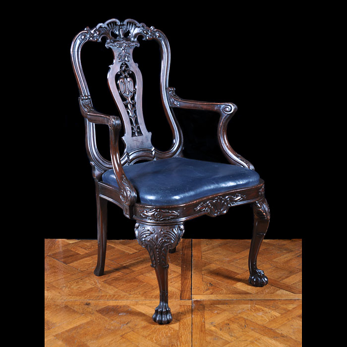 A Chippendale Style Mahogany Armchair