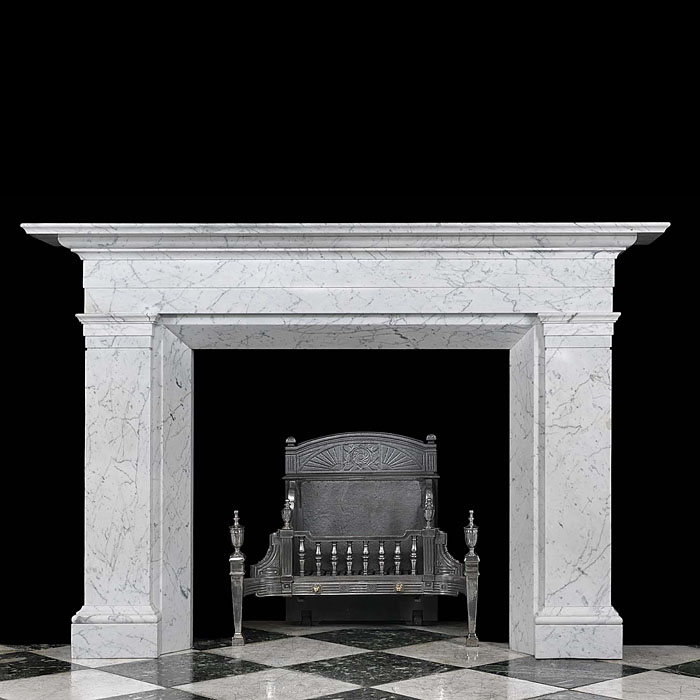 An Antique Statuary Marble William IV Chimneypiece Mantel