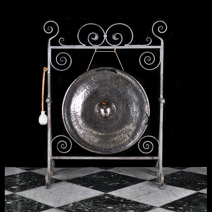 Early 20th century bronze dinner gong