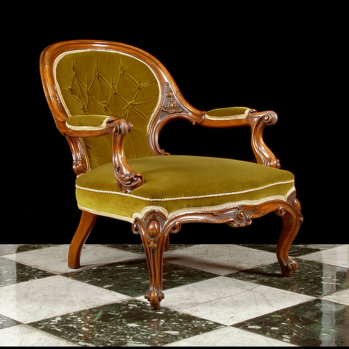 A mahogany Victorian Bergere armchair