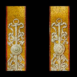 A pair of rare glass mosaic antique pilasters